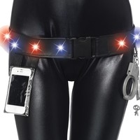 Police Utility Belt Cell Holder Props Costumes Accessories