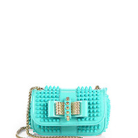 Sweet Charity Studded Patent Leather Mini Shoulder Bag