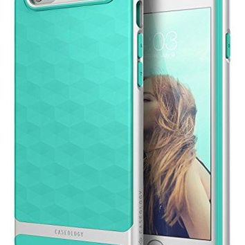 iPhone 6S Case, Caseology [Parallax Series] Slim Dual Layer Textured Geometric Corner Cushion Design [Mint Green] for Apple iPhone 6S (2015) & iPhone 6 (2014)