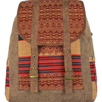 Highland Tribal Backpack in Brown