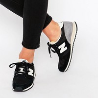 New Balance - 420 - Baskets en daim - Noir at asos.com