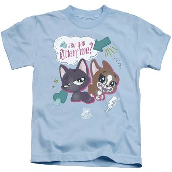 Littlest Pet Shop Boys T-Shirt Are You Kitten Me Light Blue Tee