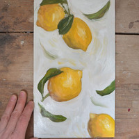 Flying Lemons Contemporary Kitchen Art Italian Decor