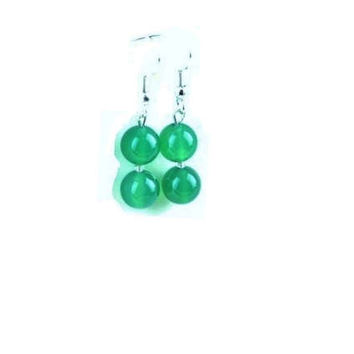 Green  Agate  Earrings , Sterling Silver Green Agate Dangle Earrings  , Gift For Her