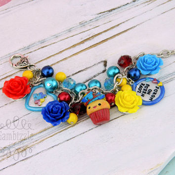 love needs no words autism bracelet, autism jewelry, autism gifts, autism awareness, autism charms