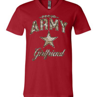 Proud Army Girlfriend Camo Unisex V-Neck T-Shirt