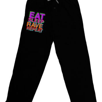 Eat Sleep Rave Repeat Color Adult Lounge Pants by TooLoud