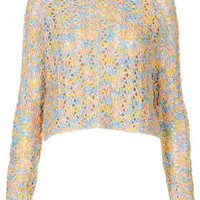 Knitted Shimmer Boucle Crop - Sale  - Sale & Offers