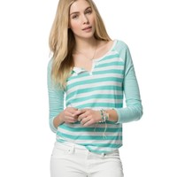 Long Sleeve Striped Raglan Shirt