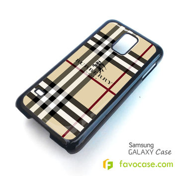 BURBERRY Pattern London Samsung Galaxy S2 S3 S4 S5, Mini, Note, Grand, Tab Case Cover