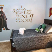 Harry Potter I solmenly swear I am up to no good vinyl wall decal sticker