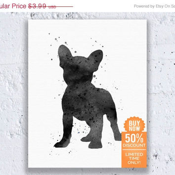 French Bulldog Print Watercolor Printable French Bulldog Print Frenchie Poster Watercolor Wall Art Digital Download Art