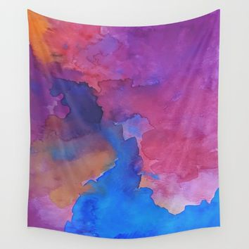 Close Your Eyes Wall Tapestry by DuckyB