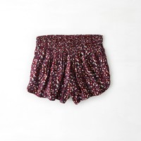 Don't Ask Why Soft Short , Burgundy   American Eagle Outfitters