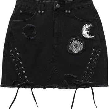 Phased Out Denim Skirt [B]