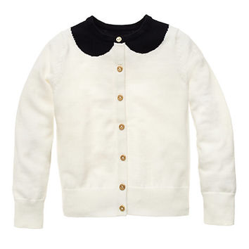 Peter Pan Collar Kati Cardigan Black/Cream