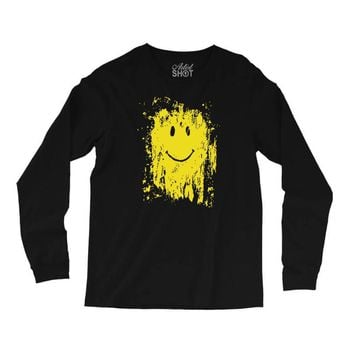 mud smiley face Long Sleeve Shirts