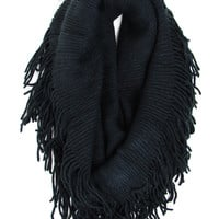 Classic Tube Scarf in Black