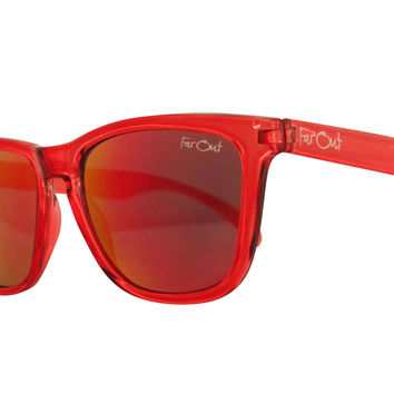 Crystal Red Wayfarers Red Lens