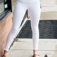 Lysse Toothpick Denim Leggings - White