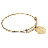 Engraved Monogram Charm Bangle