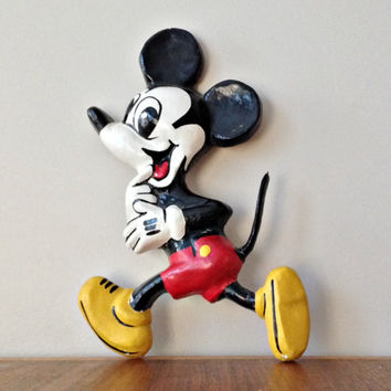 Old King Cole Mickey Mouse Papier Mache DISNEYANA Memorabilia