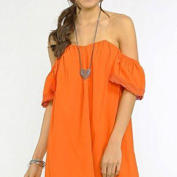 Kisses from the Sun Dress - Orange - FINAL SALE!