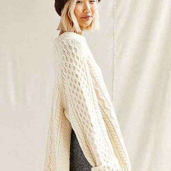 Urban Renewal Remade Side Slit Fisherman Sweater