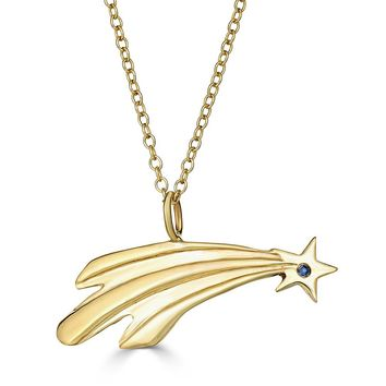 Shooting Star Necklace-Sapphire