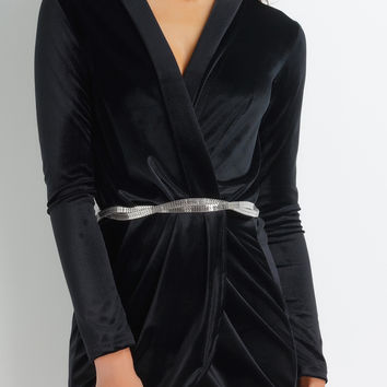 Waverly Velvet Dress - Black