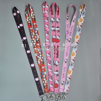 Free Shipping Hello Kitty Lanyard Keys ID Cell Phone Neck Strap Toys PCXB