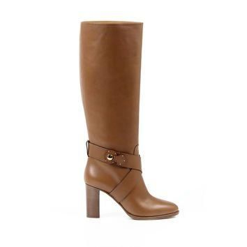 Ralph Lauren Brown High Boot MEARA SPORT Calf Leather