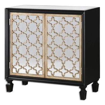 Franzea Mirrored Console Cabinet By Uttermost