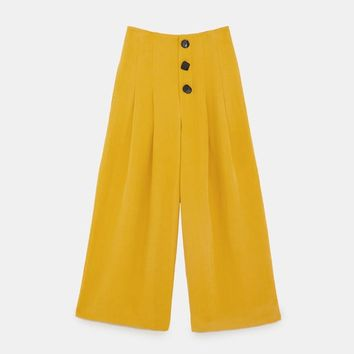 PLEATED PANTS WITH BUTTONS