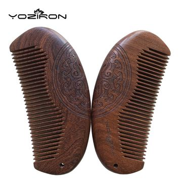 YOZIRON Pocket Wooden Comb Natural Green Sandalwood Super Narrow Tooth Wood Combs No Static Lice Beard Comb Hair Styling P016