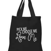 "Grey's Anatomy ""Pick Me, Choose Me, Love Me"" 100% Cotton Tote Bag"