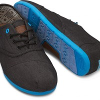 TOMS Shoes Black Denim Blue Pop Cordones Sneaker Men's Shoes,