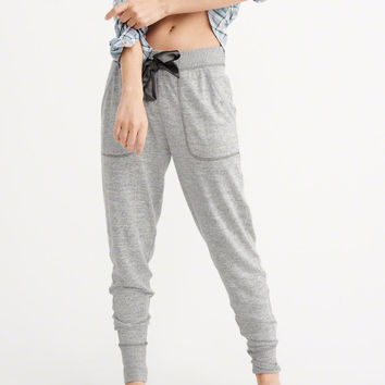 Womens Cozy Knit Joggers | Womens Sleepwear & Intimates | Abercrombie.com