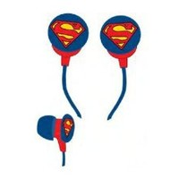 iHip DCF10163SM Classic Superman Logo Hi-Fi Noise Reducing Ear Buds (Earphones) Blu/Red/Yellow
