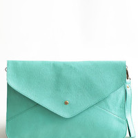 Keeping Fresh Envelope Clutch - $32.00: ThreadSence, Women's Indie & Bohemian Clothing, Dresses, & Accessories