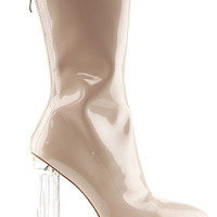 These Boots Are Made For Walkin Patent Leather Clear Heel Booties- PRE ORDER
