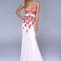 Nina Canacci 4071 Strapless Beaded Dress