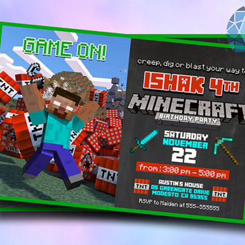 Game On TNT Design For Digital File, Birthday Invitation by SaphireInvitations