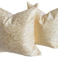 Woven Italian Pillows, Pair