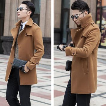 New arrival fashion casual Mens Wool Coat Men high quality autumn winter Slim Single breasted overcoat plus Size S-7XL8XL9XL10XL