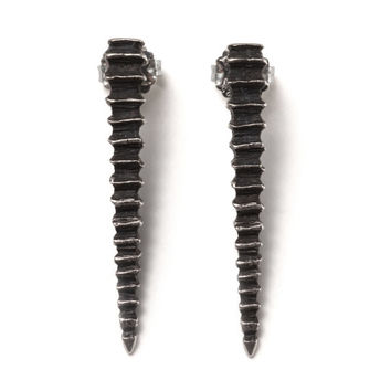 Sea spike stud earrings