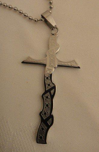 Stainless Steel Cross Necklace | asterling - Jewelry on ArtFire