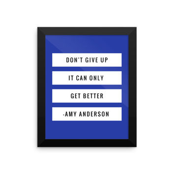 Don't Give Up Encouraging Framed Poster