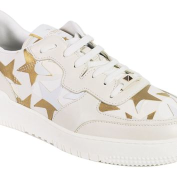 Valentino Mens Cream Canvas Star Camo Runner Sneakers Size 41.5/8.5~RTL$1250