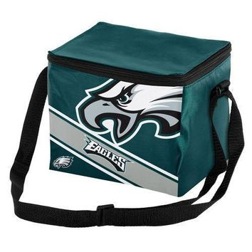 NFL Philadelphia Eagles Big Logo Striped 6 pack Cooler Lunch Box Bag Insulated